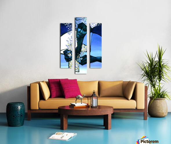 blue fragments Canvas print