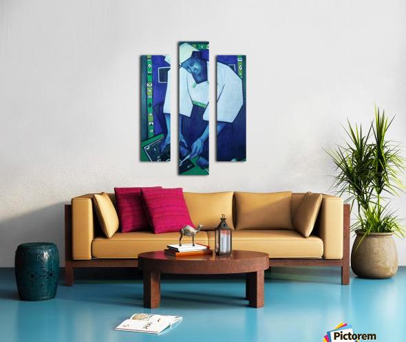 Mozaik bleu Canvas print