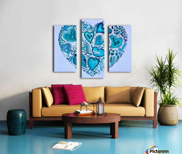 Blue Hearts Canvas print