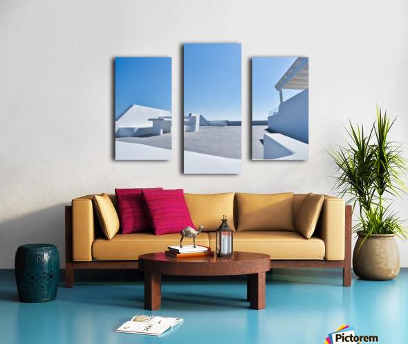 Cyclades White Architecture Design Canvas print