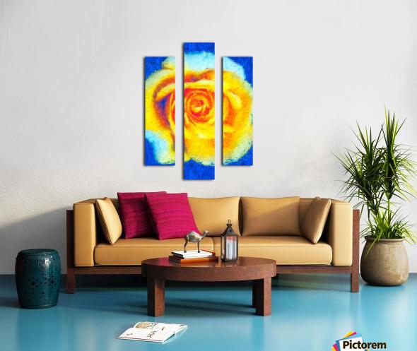 Floating Rose Canvas print
