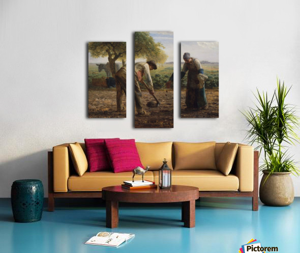 Potato Planters Canvas print