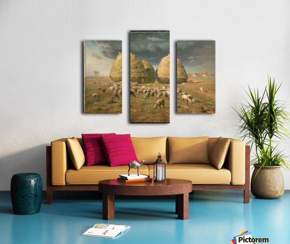 Haystacks - Autumn Impression sur toile
