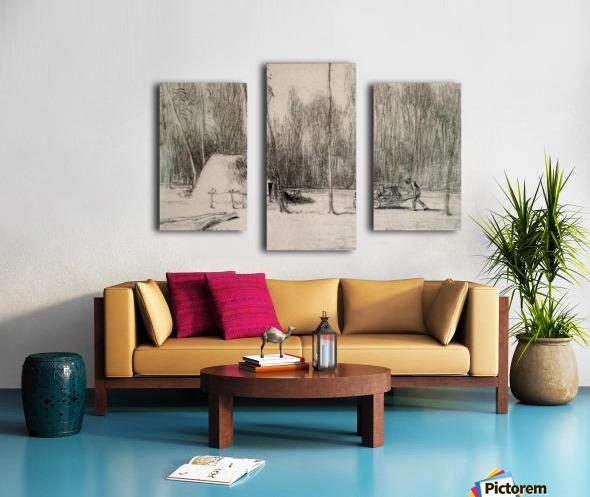 The Charcoal Burner's Hut Canvas print
