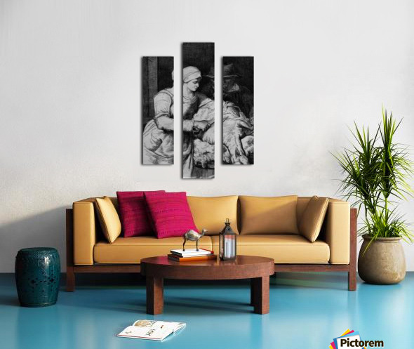 Sheep shearer Canvas print