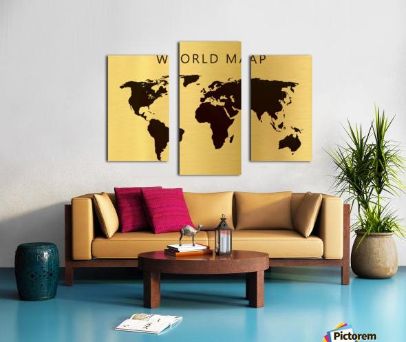 map world 4 Canvas print