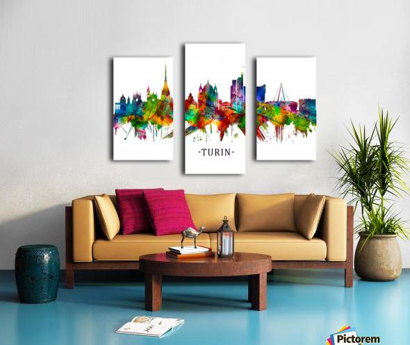 Turin Italy Skyline Canvas print