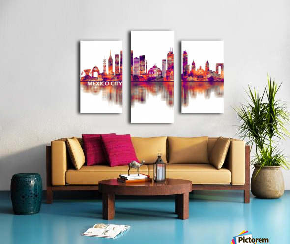 Mexico City Mexico Skyline Canvas print