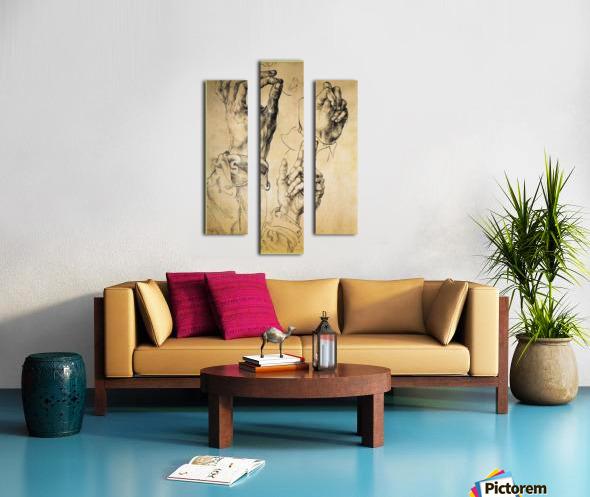 Study of Three Hands Canvas print