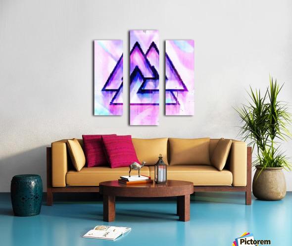 Valknut Light & Colorful Canvas print