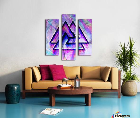Valknut Colorful Canvas print