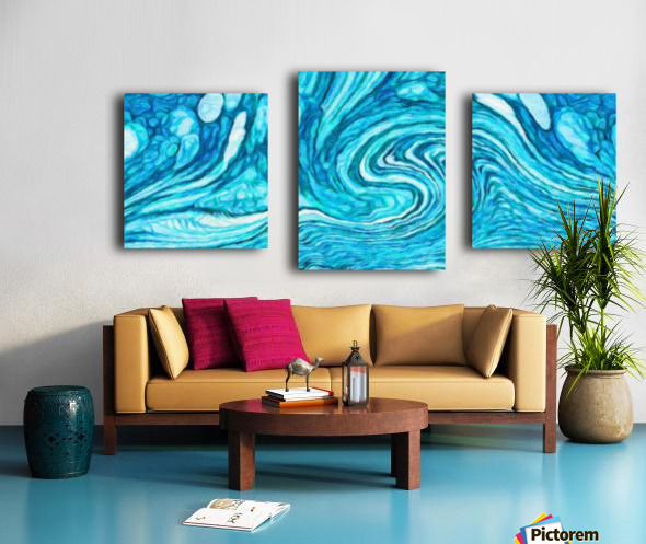 Wave DAY Canvas print