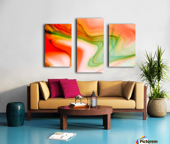 The colorful background of freeform floating watercolor Canvas print