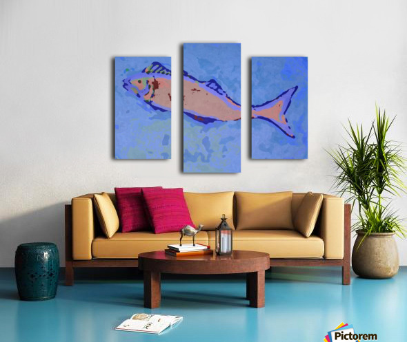 Fish Story Canvas print
