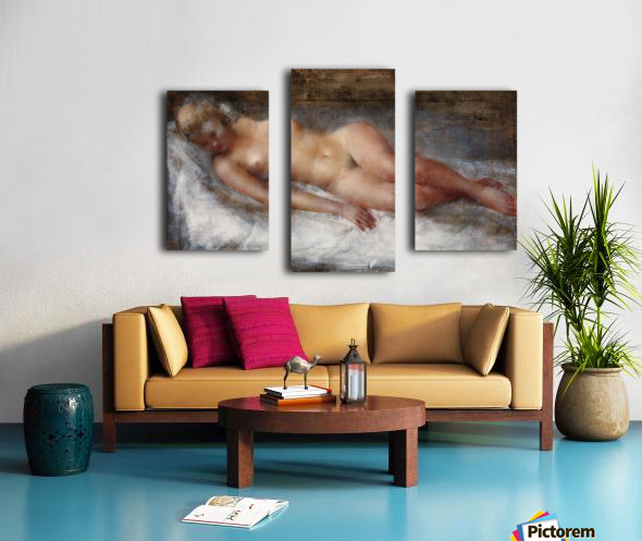 Model with Flaxen Hair Canvas print