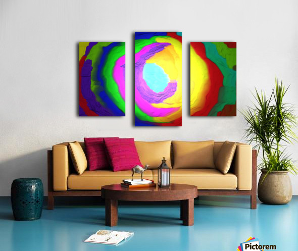 1-Beautiful Color Chaos 1 Canvas print