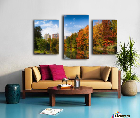 Fall colors in NY Canvas print