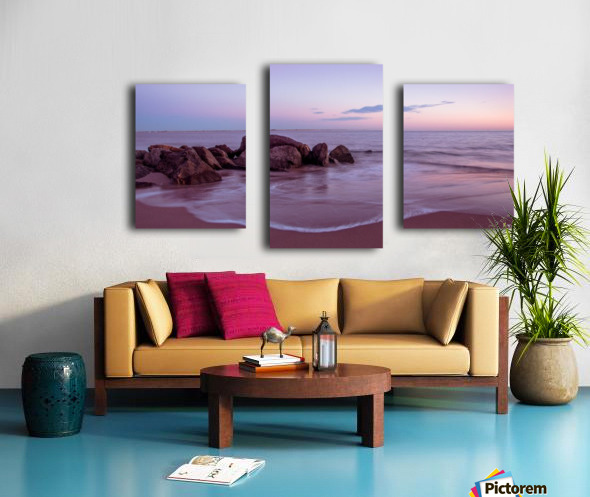 Coney Island sunset Canvas print
