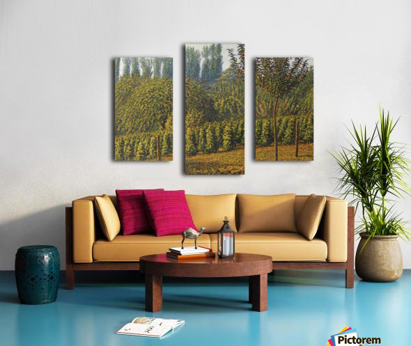 Haystacks Canvas print