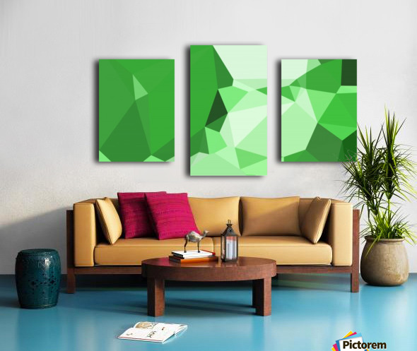 abstract geometric triangular art Canvas print