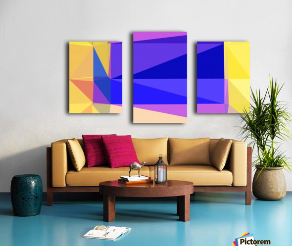 abstract colorful geometric shapes Canvas print