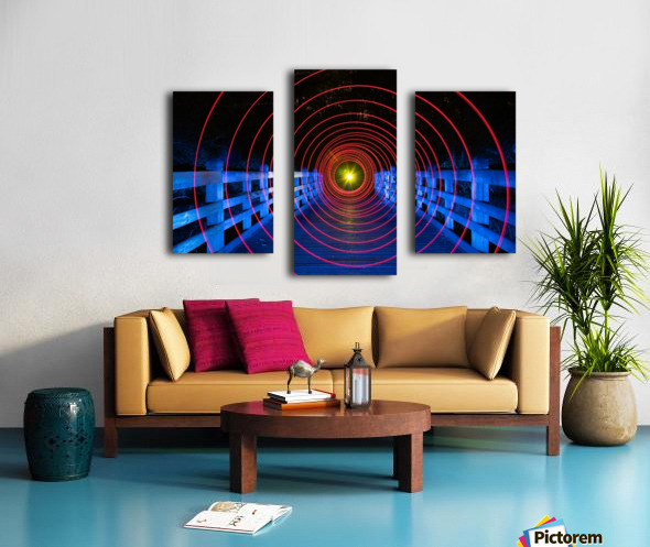 Space-Time Anomaly Canvas print
