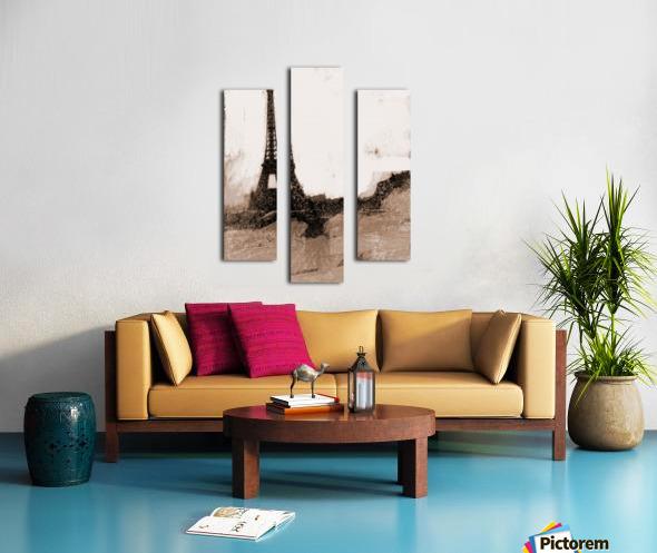 Paris Icon in Sephia Canvas print