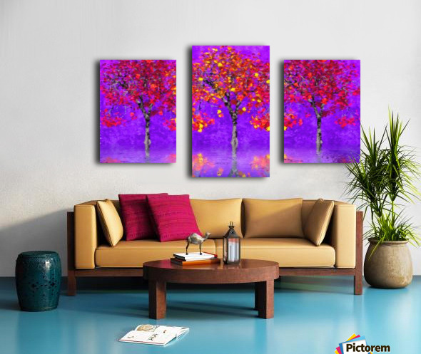 When autumn leaves start to fall Canvas print