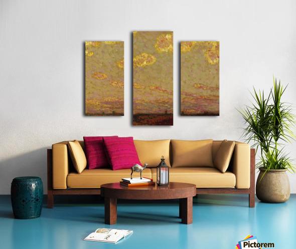 Sunset at Gerberoy Canvas print
