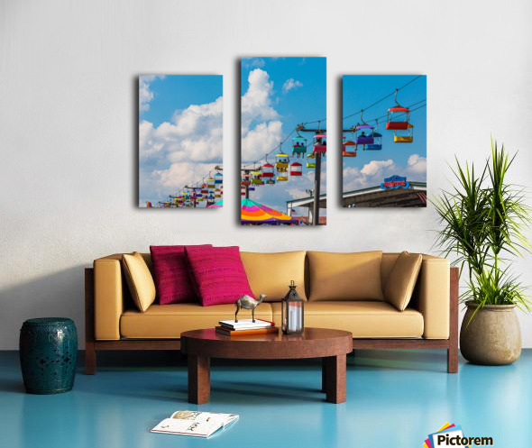 Skylift Over Cumming Fair Canvas print