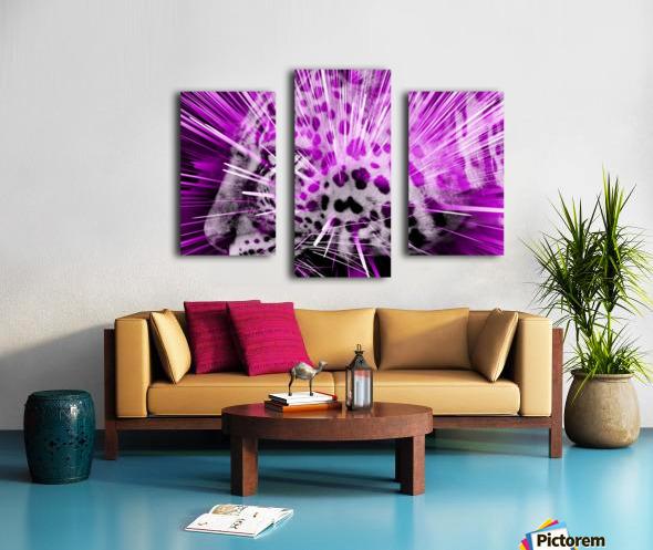 Leopard pop 3 Canvas print