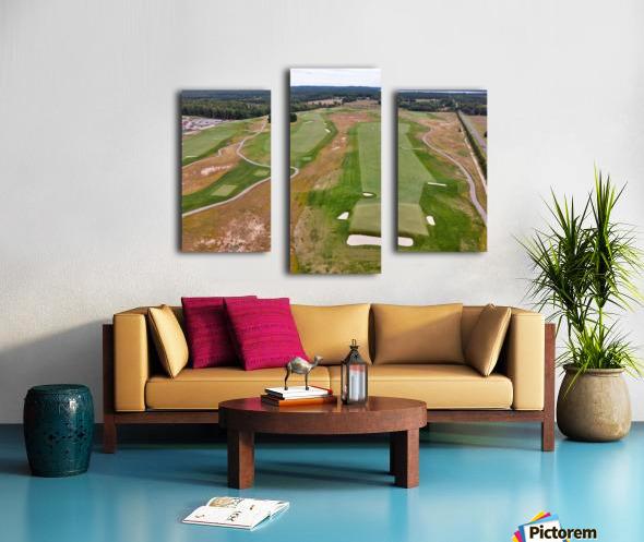 Arcadia Bluffs South Course back nine Par 5s Canvas print