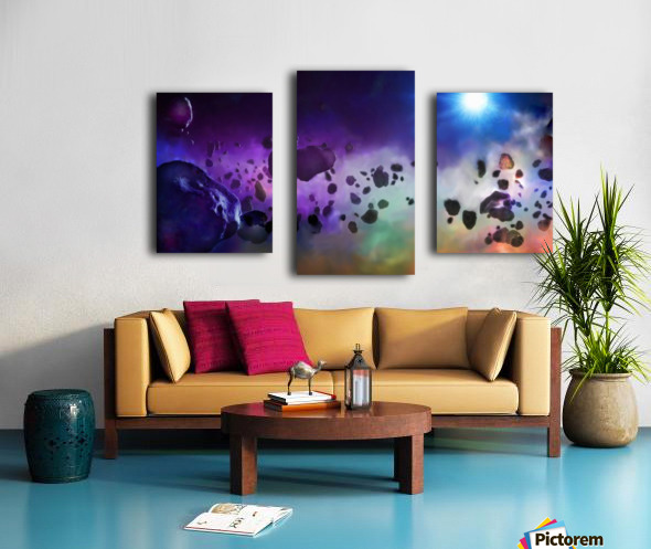 An Asteroids Point of View Canvas print