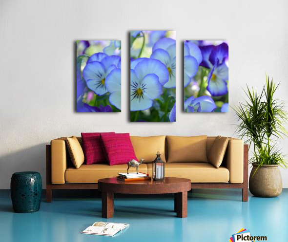 Blue Flower Garden Photograph Canvas print