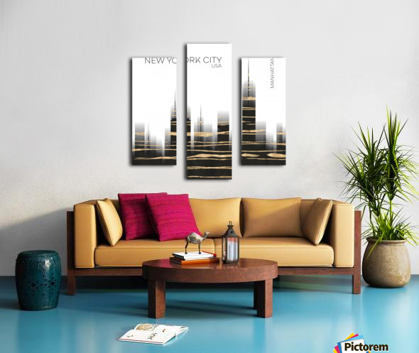 Urban Art NYC Skyline Canvas print