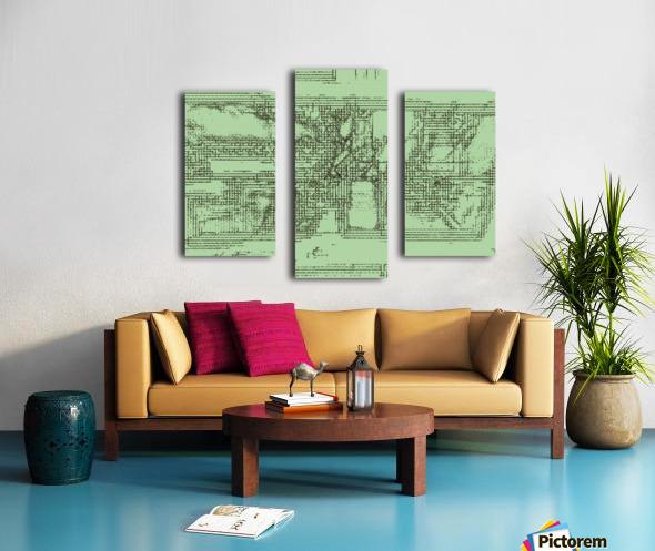 The inner courtyard Canvas print