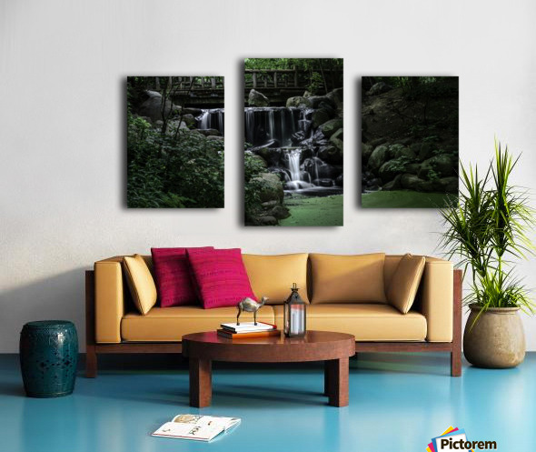 Prospect park waterfall no frame Canvas print