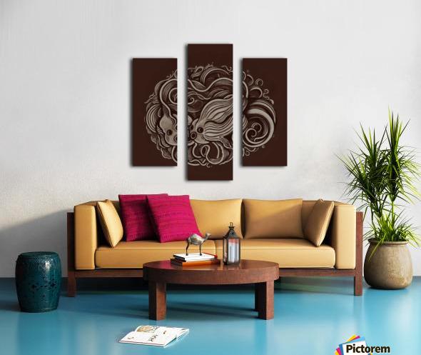 Lunar New Year Sepia Canvas print
