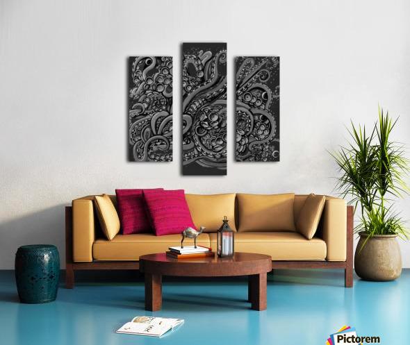 Nova Greyscale Canvas print