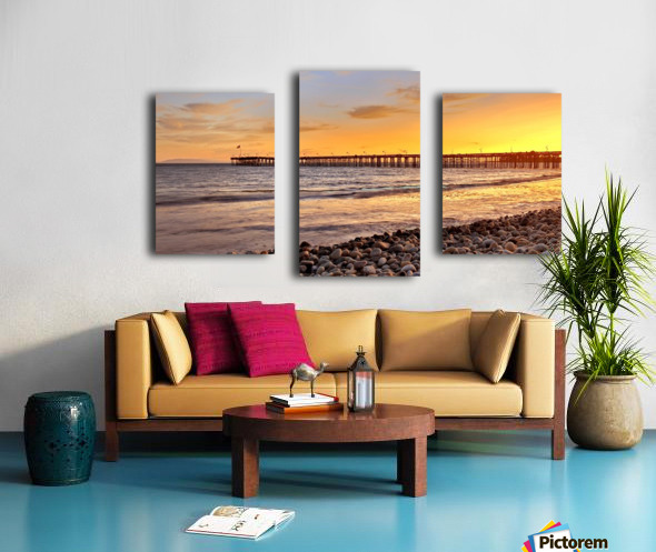 hot in california Canvas print