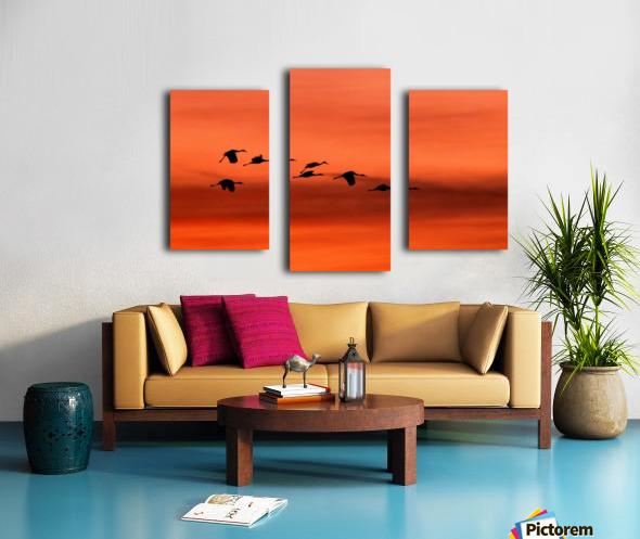 Sandhill Cranes at Sunset Canvas print