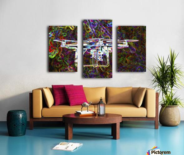 Colorful Quad Copter Canvas print
