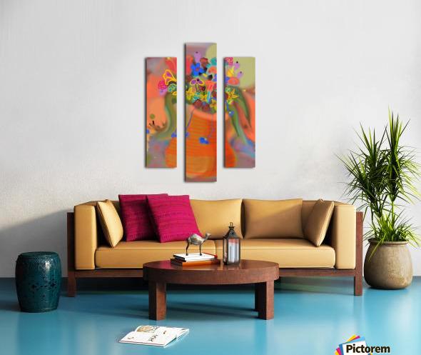 three vases (12) Canvas print