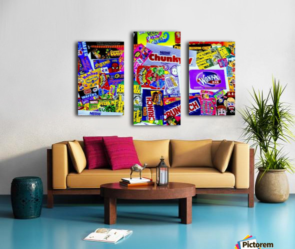 candy wrapper madness Canvas print