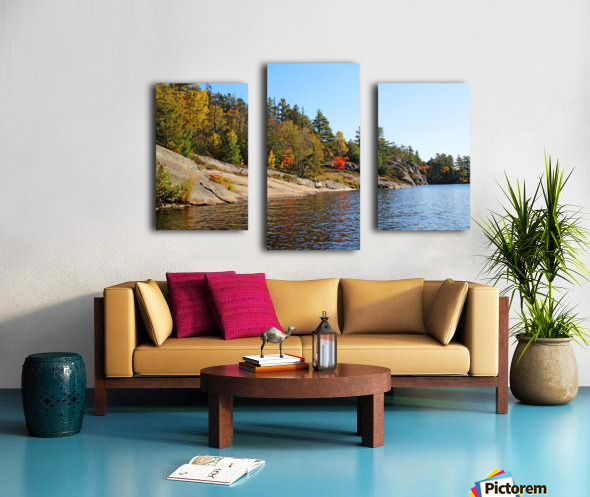 Key River Shore In Fall I Canvas print