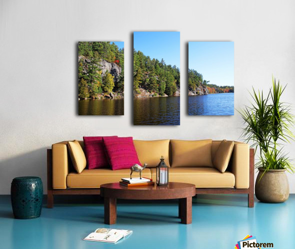 Key River Shore In Fall II Canvas print