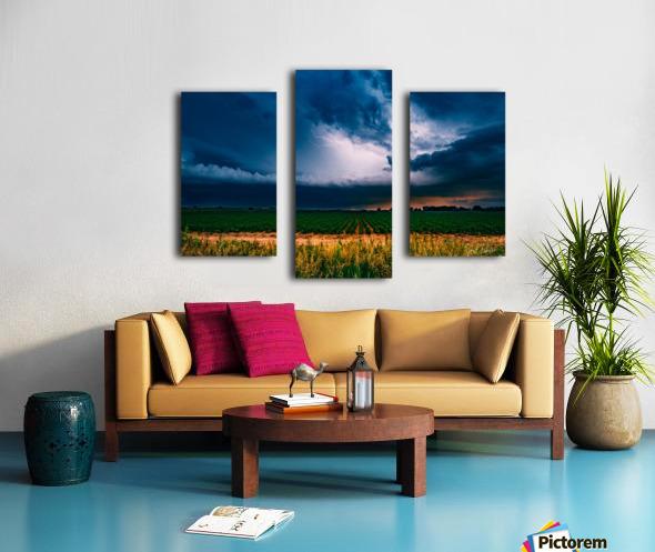 Prairie Lightning Canvas print