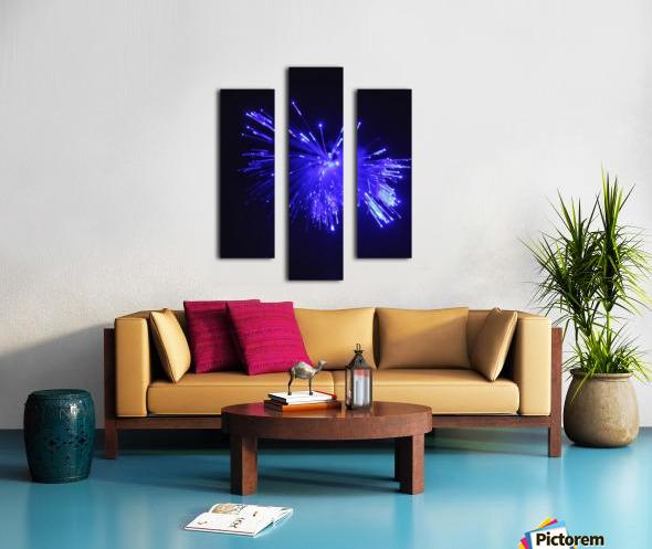 Blue Sparkle Canvas print