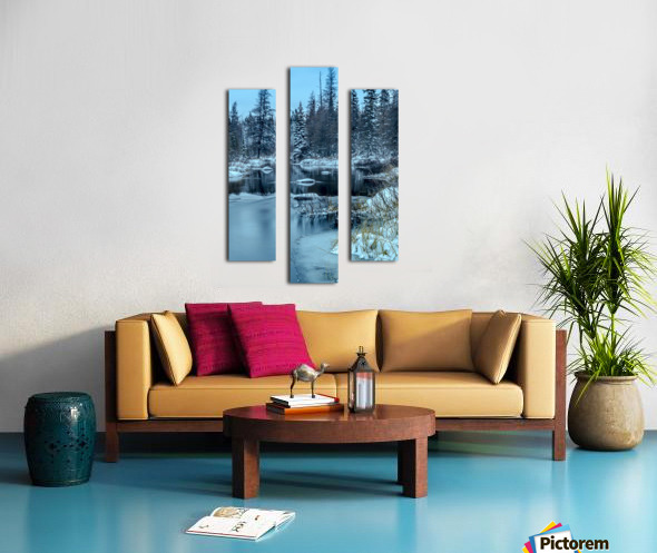 River and snow Canvas print