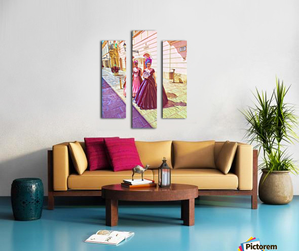 Purple Baroque Canvas print